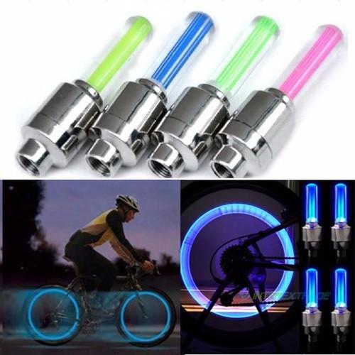 Siêu rẻ bộ 2 đèn led gắn van xe đạp