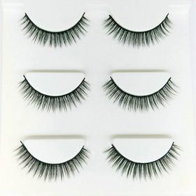 Mi Chồn , Lông Mi Giả Chồn 3D 3PCS 3 Fashion Eyelashes 3 Faux-Cils - bộ 3 cặp - Mi 3d