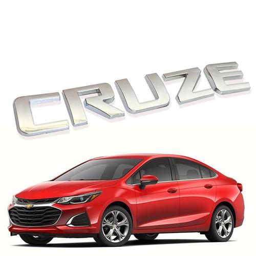 Tem logo chữ nổi cruze gắn trang trí đuôi xe chevrolet cruze