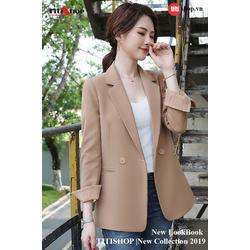 Aó vest Blazer Titishop ANN166 Luxury kem