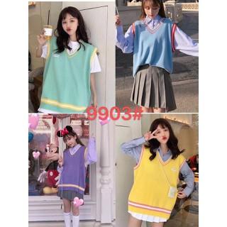 Áo gilê len bánh bèo kiểu dáng Hàn Quốc - gl37 thumbnail