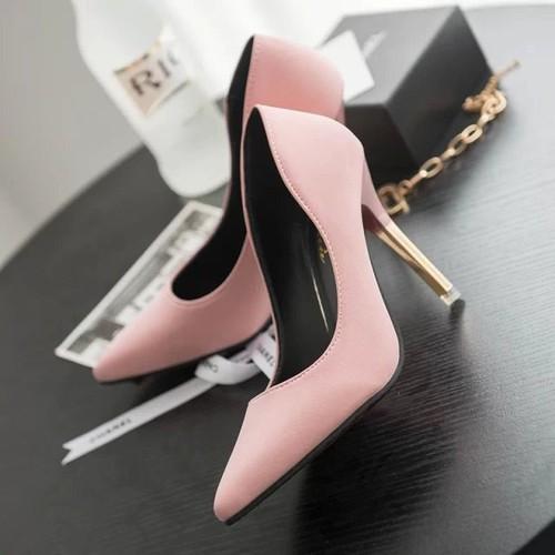 Giày cao gót nữ, sexy, da lộn, mũi nhọn, gót nhỏ, màu hồng, phong cách hàn quốc, dễ kết hợp, phù hợp cho mùa thu, mẫu mới nhất - 18962760 , 22006292 , 15_22006292 , 210000 , Giay-cao-got-nu-sexy-da-lon-mui-nhon-got-nho-mau-hong-phong-cach-han-quoc-de-ket-hop-phu-hop-cho-mua-thu-mau-moi-nhat-15_22006292 , sendo.vn , Giày cao gót nữ, sexy, da lộn, mũi nhọn, gót nhỏ, màu hồng, ph