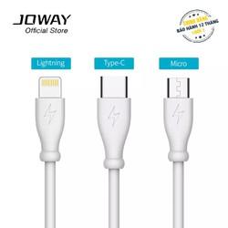 Cáp sạc siêu bền Joway dành cho Samsung, Iphone, Xiaomi, Oppo, Huawei