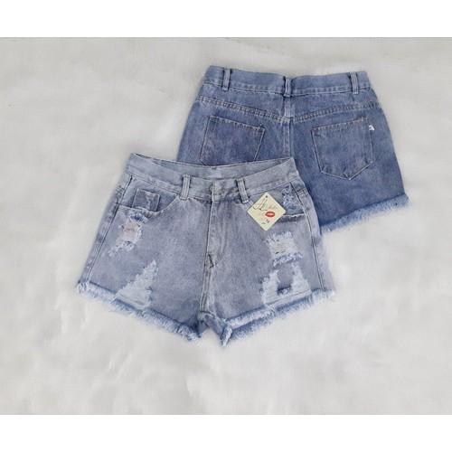 Quần short nữ jean rách lưng cao - 19399137 , 21991966 , 15_21991966 , 89000 , Quan-short-nu-jean-rach-lung-cao-15_21991966 , sendo.vn , Quần short nữ jean rách lưng cao