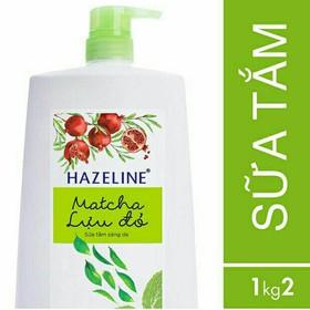 Sữa Tắm Dưỡng Sáng Da Hazeline Matcha & Lựu Đỏ 1.2kg - 8934868125433
