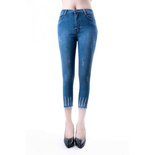 Quần jean nữ lưng ngắn lai 9 tấc lật xanh đen cào - 16996607 , 21992893 , 15_21992893 , 150000 , Quan-jean-nu-lung-ngan-lai-9-tac-lat-xanh-den-cao-15_21992893 , sendo.vn , Quần jean nữ lưng ngắn lai 9 tấc lật xanh đen cào