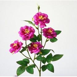 Hoa lụa hoa hồng lụa 5b Một cụmmàu tím