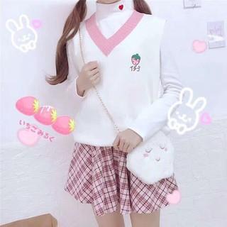 Áo gilê len bánh bèo kiểu dáng Hàn Quốc - gl39 thumbnail