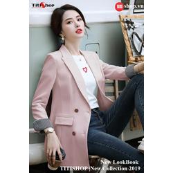 Aó vest Blazer Titishop ANN164 Luxury Hồng