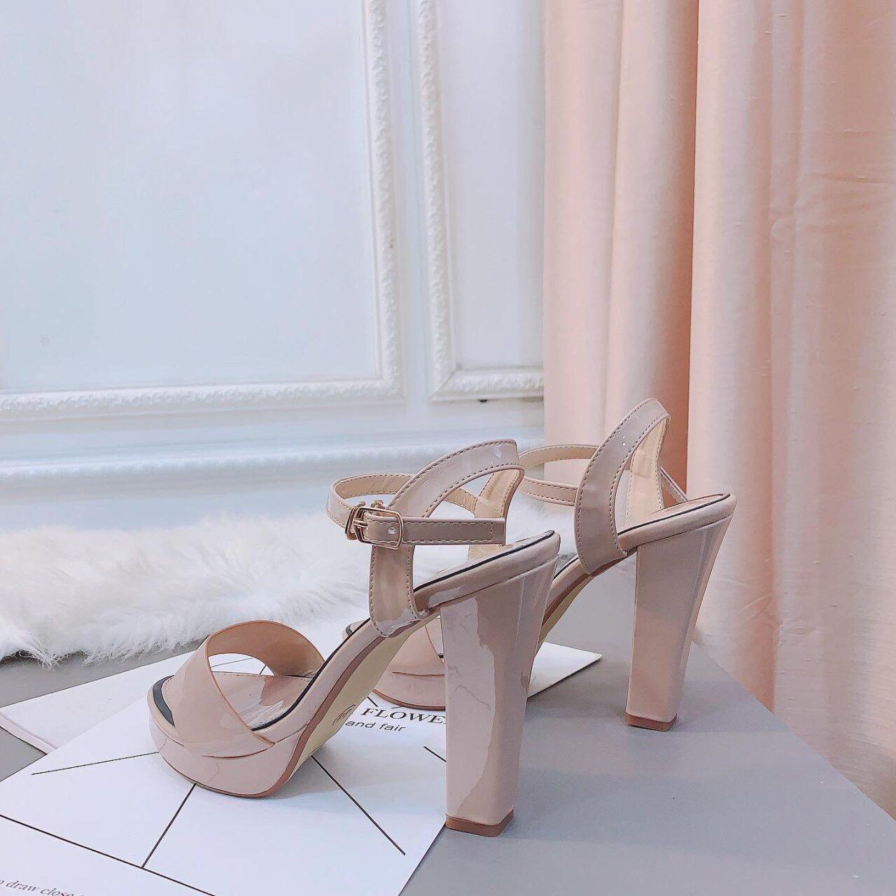 Giày sandanl cao gót viền loại xịn - dh36363 2