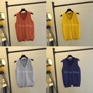 Áo gilê len bánh bèo - gl40 thumbnail