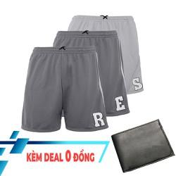 Combo 3 quần shorts thun chữ cái cao cấp QT309 - tặng kèm 1 ví nam cao cấp