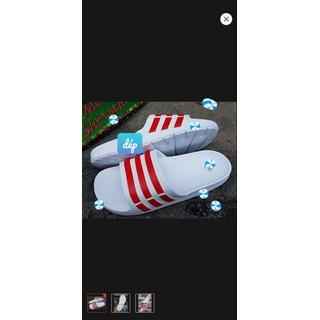 [chuyên sỉ] Dép nam siêu nhẹ bền màu trắng xọc đỏ-được kiểm tra hàng- Dép lê nam đúc nguyên khối, chất bền đi êm - DTXD-01 thumbnail