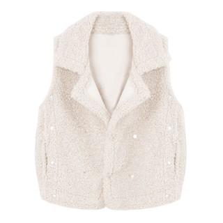 Áo khoác ghile nữ cổ vest nỉ bông LAH fashion - Áo khoác ghile nữ thumbnail