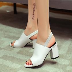 Giày boot nữ đế vuông cao 5cm phong cách Hàn Quốc B142