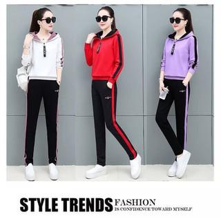 Bộ đồ mặc nhà thu g Áo khóac thể thao nữ phong cách - B00 thumbnail