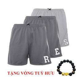 Combo 3 quần shorts thun chữ cái cao cấp QT109 - tặng kèm 1 vòng tuỳ hưu
