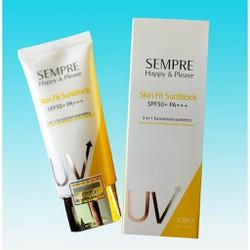 Kem Chống Nắng Vật Lý Kiềm Dầu cho mặt và cơ thể 50ml Sempre Happy & Please Skin Fit Sunblock SPF50+ PA+++ 50ml