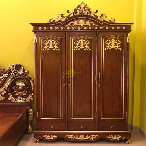 Tủ áo cổ điển dát vàng 1,8×2,5m - 19416356 , 22021754 , 15_22021754 , 69900000 , Tu-ao-co-dien-dat-vang-1825m-15_22021754 , sendo.vn , Tủ áo cổ điển dát vàng 1,8×2,5m