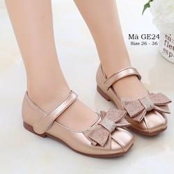 Giày bé gái – Giày búp bê cho bé gái – Giày đi học cho bé gái 3 – 12 tuổi chất da mềm thời trang GE24