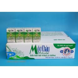 Sữa tươi tiệt trùng Mộc Châu 110ml - thùng 48 hộp [Ko kèm KM]