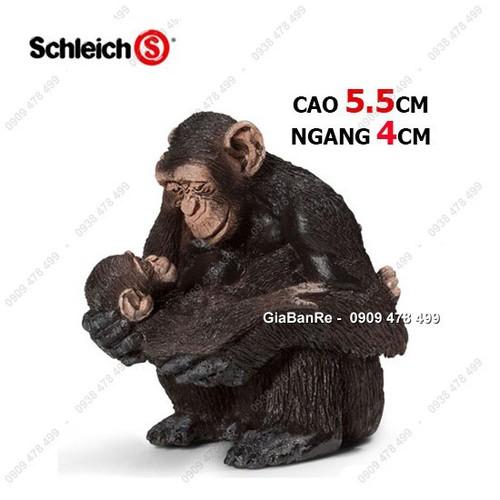 Mô hình động vật cao cấp size nhỏ - nhóm b - khỉ mẹ ôm con