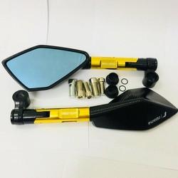 Gương chiếu hậu xe máy - 1 cặp - Gương 5 cạnh Rizoma - gương kiểu xe máy