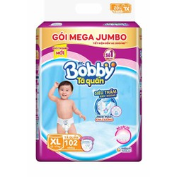 Tã quần Bobby Gói Mega Jumbo M120-L111-XL102-XXL93