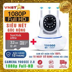 Camera IP YOOSEE F-HD 1080P 2.0Mpx Siêu Nét Góc Rộng + Thẻ Nhớ Chuyên Camera