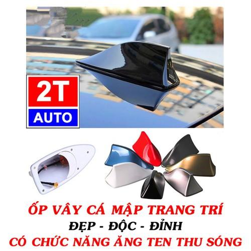 Ốp ăng ten vây cá trang trí nóc ô tô xe hơi cao cấp, có chức năng antenna, angten thu sóng fm