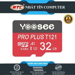 Thẻ nhớ microSDHC Yoosee Pro Plus 32GB A1 U3 4K R95MB.s W45MB.s [Đỏ] - chuyên camera và điện thoại