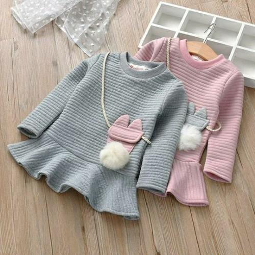 Váy trần bông quảng châu cao cấp cho bé