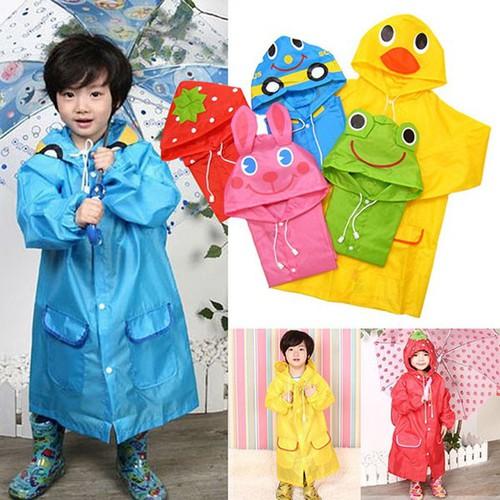 Áo mưa hình thú cho bé