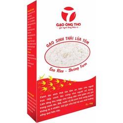Gạo Sạch Ông Thọ Sinh Thái Lúa Tôm - Hộp giấy 1 KG