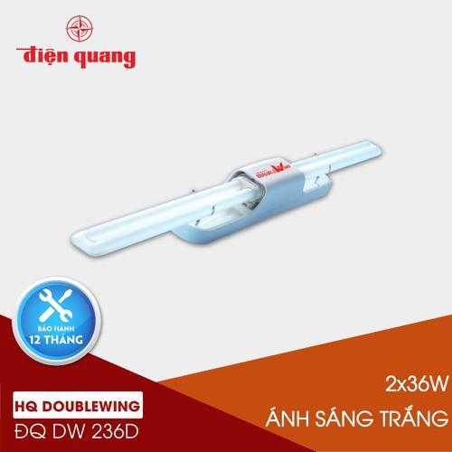 Bộ đèn doublewing điện quang đq dw 236d 2x36w daylight