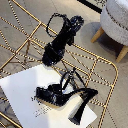 Giày cao gót đúp bảng ngang siêu chảnh