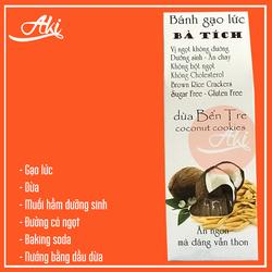 Bánh ăn kiêng gạo lứt  dừa Bến Tre