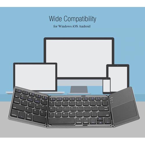 Bàn phím không dây mini gấp gọn bluetooth tích hợp touchpad b033 - b033