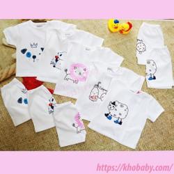 Bộ quần áo trẻ sơ sinh ngắn tay cài bác sĩ-Bộ quần áo trẻ sơ sinh