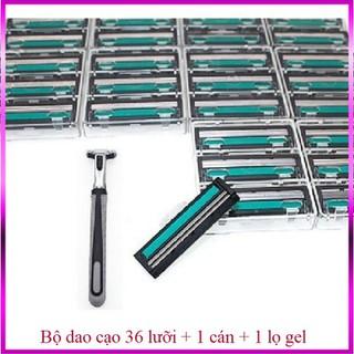 Dao - Dao cạo râu - bộ 36 lưỡi 1 cán và 1 lọ gel - bộ 36 lưỡi - Bộ 36 lưỡi dao cạo thumbnail