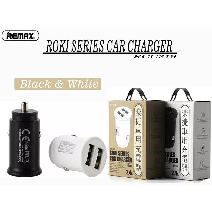 Củ sạc ô tô 2.4A 2 cổng USB Remax RCC-219 - Remax RCC-219
