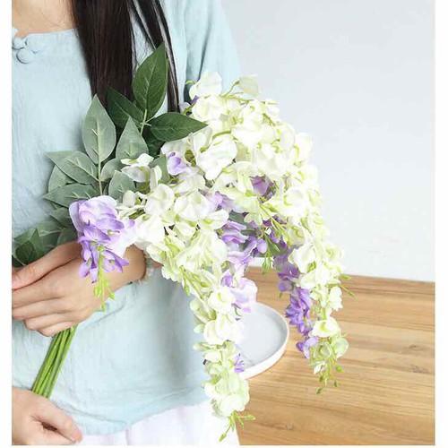 Hoa giả - hoa lan chất liệu lụa dùng để trang trí cực đẹp