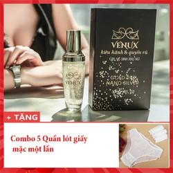 Dung dịch vệ sinh phụ nữ tinh chất vàng 24k - Gel vệ sinh venux tặng 5 quần lót dùng một lần