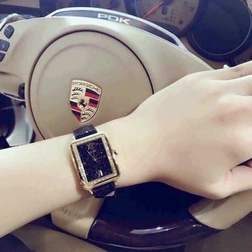 Đồng hồ nữ dây đen lấp lanh