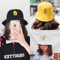 Mũ Tai Bèo Vành Rộng Nón Bucket Thêu Hình Vịt Con Anh Duy Shop