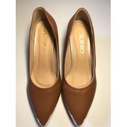 Giày cao gót mũi bọc thời trang 5p vàng bò
