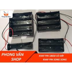 4 Khay giữ pin song song 18650 1-2-3-4 cell pin