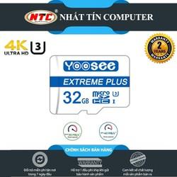 Thẻ nhớ microSDHC Yoosee Extreme Plus 32GB UHS-I U3 4K R90MB.s W40MB.s [Xanh] - chuyên camera và điện thoại