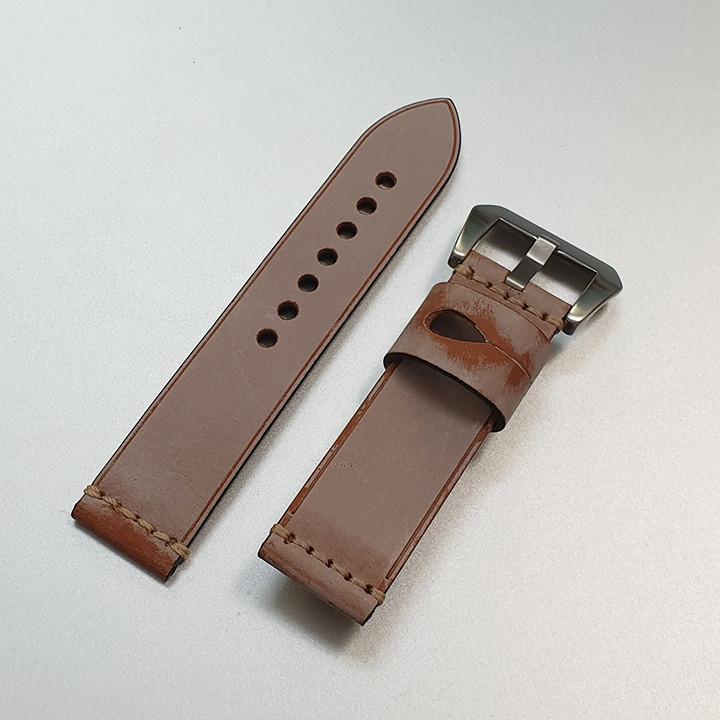 Dây da đồng hồ nam, da bò phong cách cá tính size 22mm và 24mm - D1918 - D1918 9