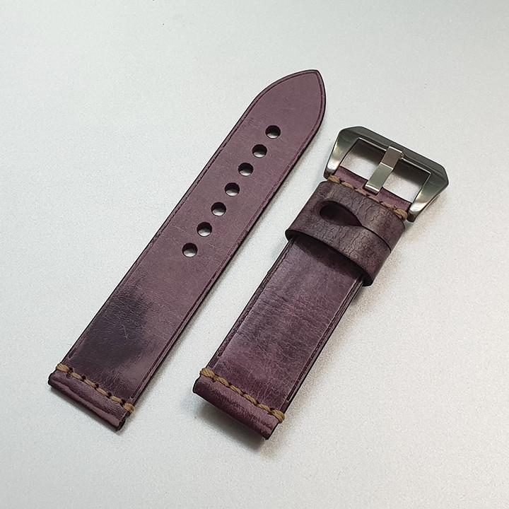 Dây da đồng hồ nam, da bò phong cách cá tính size 22mm và 24mm - D1918 - D1918 10